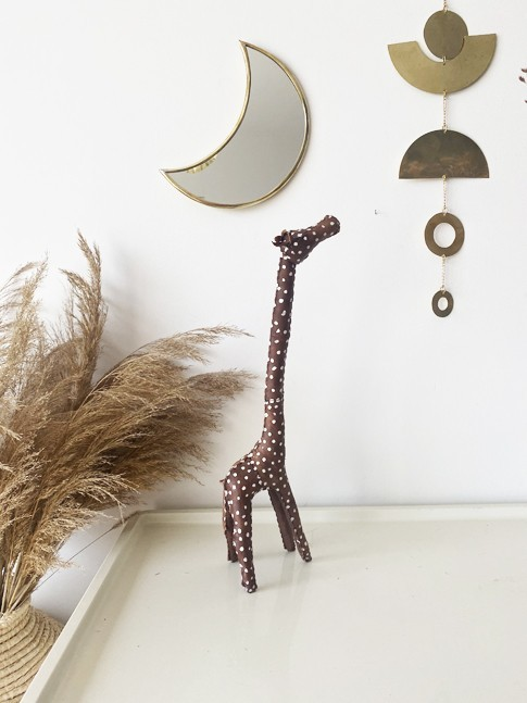 Grande Girafe Marron