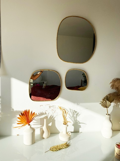 Série 3 miroirs rectangulaires