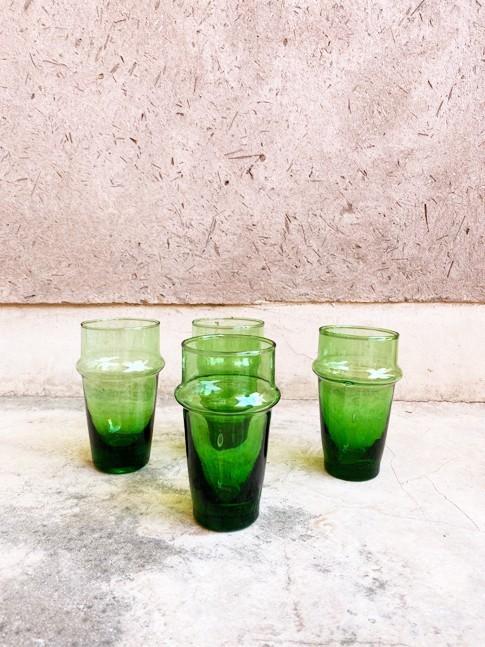 Verres à eau vert Beldi