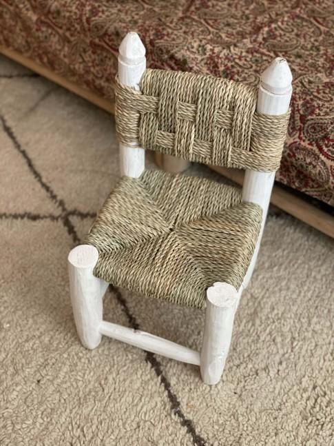 Chaise enfant doum Blanche